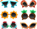Summer sunglasses set vector illustration of separate layers for easy editing Stock Photo