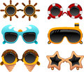 Summer sunglasses set 2 Royalty Free Stock Photo