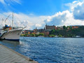 Summer sunny day in stockholm sweden Stock Photography