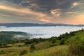 Summer sunrise landscape in the Carpathian mountains Royalty Free Stock Photo
