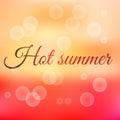 Summer sunset hot summer vector illustration