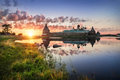 Summer Sunset in Solovki Royalty Free Stock Photo