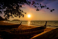 Summer sunsets at andaman seaside krabi province southern thai thailand Royalty Free Stock Image