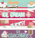 Summer Sweets Banners Royalty Free Stock Photo