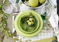Summer table setting Stock Image