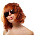 Summer teen girl redhaired cheerful Royalty Free Stock Images