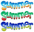 Summer texts illustration of the on a white background Royalty Free Stock Photos