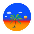 Summer theme with palm tree Royalty Free Stock Image