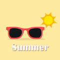 Summer themed banner design with sunglasses