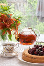 Summer time afternoon tea in the garden Royalty Free Stock Photo