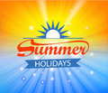 Summer time background with Hot sun lights vector illustration Royalty Free Stock Photo