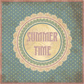 Summer time card in vintage style vector illustration Royalty Free Stock Image