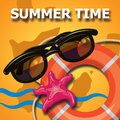 Summer time creative design template