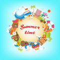Summer time elements banner