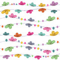 Summer time floral abstract background vector Royalty Free Stock Photo