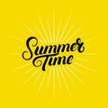 Summer time hand written lettering.