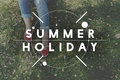 Summer Time Holiday Rest Outdoors Concept Royalty Free Stock Photo