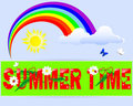 Summer time a label. Stock Images