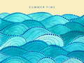 Summer time lettering on yellow background Royalty Free Stock Photo