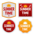 Summer time stickers set