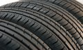 Summer tires fragment Royalty Free Stock Photo