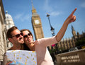 Summer tourists in London Royalty Free Stock Photo