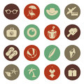 Summer travel icons Royalty Free Stock Photography