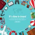 Summer travel, vacation, tourism, adventure, journey flat vector background