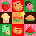 Summer treat a vector of Royalty Free Stock Images