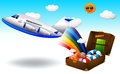 Summer trip illustration of a on a white background Royalty Free Stock Photography