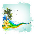 Summer tropical background Royalty Free Stock Images