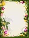 Summer tropical frame Royalty Free Stock Photo