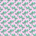 Summer tropical palms background. Seamless Pattern with Coconut Palm Trees. Royalty Free Stock Photo