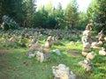 Cult glade in Buryatia through the web.