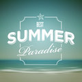 Summer typographic design vector template elements are layered separately in vector file Stock Images