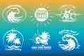 Summer Typography Emblem Set