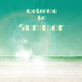 Summer typography poster art design Royalty Free Stock Image