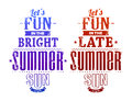 Summer typography vector illustration Royalty Free Stock Photos