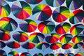 Summer Umbrellas at Arkadia Alley Royalty Free Stock Photo