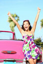 Summer vacation car road trip Stock Photos