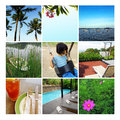 Summer vacation collage, summertime Royalty Free Stock Photo