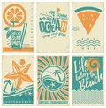 Summer vacation poster, flyer or pamphlets collection Royalty Free Stock Photo