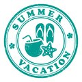 Summer vacation stamp grunge Stock Photo