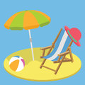 Summer vacation time flat background concept