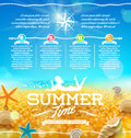 Summer vacation and travel design infographic Stock Photo
