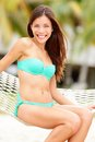 Summer vacation woman happy Royalty Free Stock Images