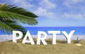 Summer vacations - Beach party. 3d illustration