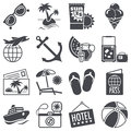 Summer vacations icons set concepts Royalty Free Stock Photos
