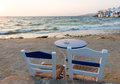 Summer vacations, Mykonos Island Greece Royalty Free Stock Photo