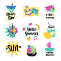 Summer vector elements collection